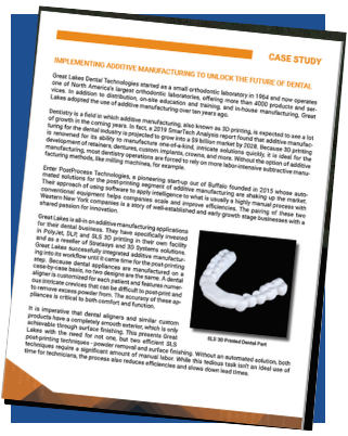 Download our case study about Great Lakes Dental Technologies