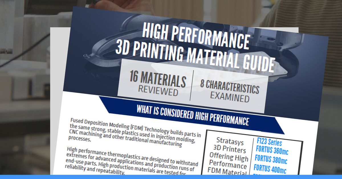 High Performance 3D Printing Material Guide UPDATED